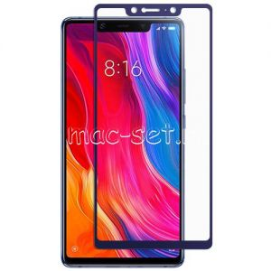 Защитное стекло для Xiaomi Mi8 SE [на весь экран] (синее)