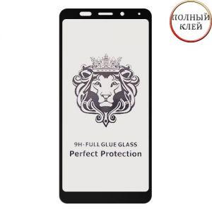Защитное стекло для Xiaomi Redmi 5 Plus [клеится на весь экран] Premium (черное)