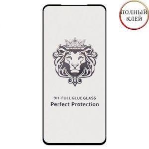 Защитное стекло для Xiaomi Redmi Note 10 Pro [клеится на весь экран] Premium (черное)