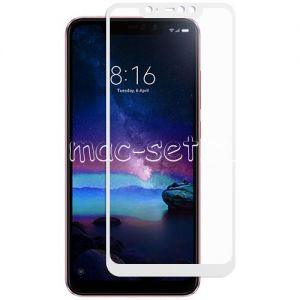 Защитное стекло для Xiaomi Redmi Note 6 Pro [на весь экран] (белое)
