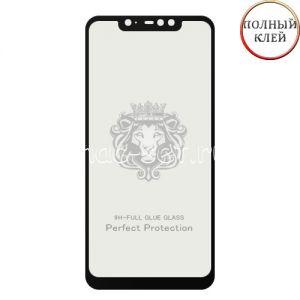 Защитное стекло для Xiaomi Redmi Note 6 Pro [клеится на весь экран] Premium (черное)