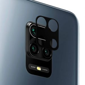 Защитное стекло для камеры Xiaomi Redmi Note 9 Pro / Note 9S (черное) Deluxe