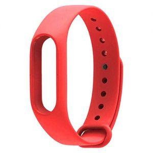 Силиконовый ремешок для Xiaomi Mi Band 2 (красный) Red Line