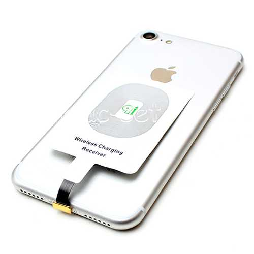 адаптер Qi для Iphone 5 Se 6 7 приемник беспроводной зарядки